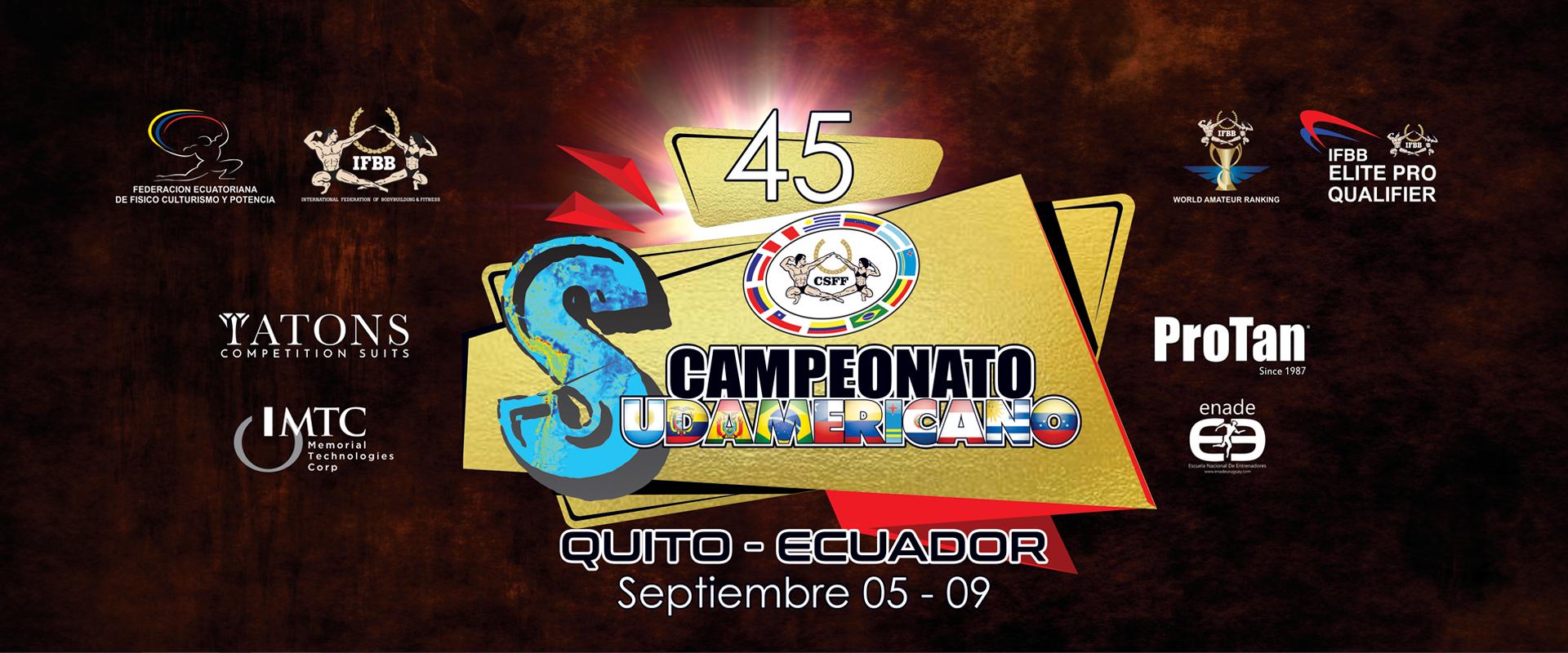 Programa de Competencias 45 Campeonato Sudamericano