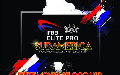 Invitación Campeonato IFBB ELITE PRO SUDAMERICA 2018