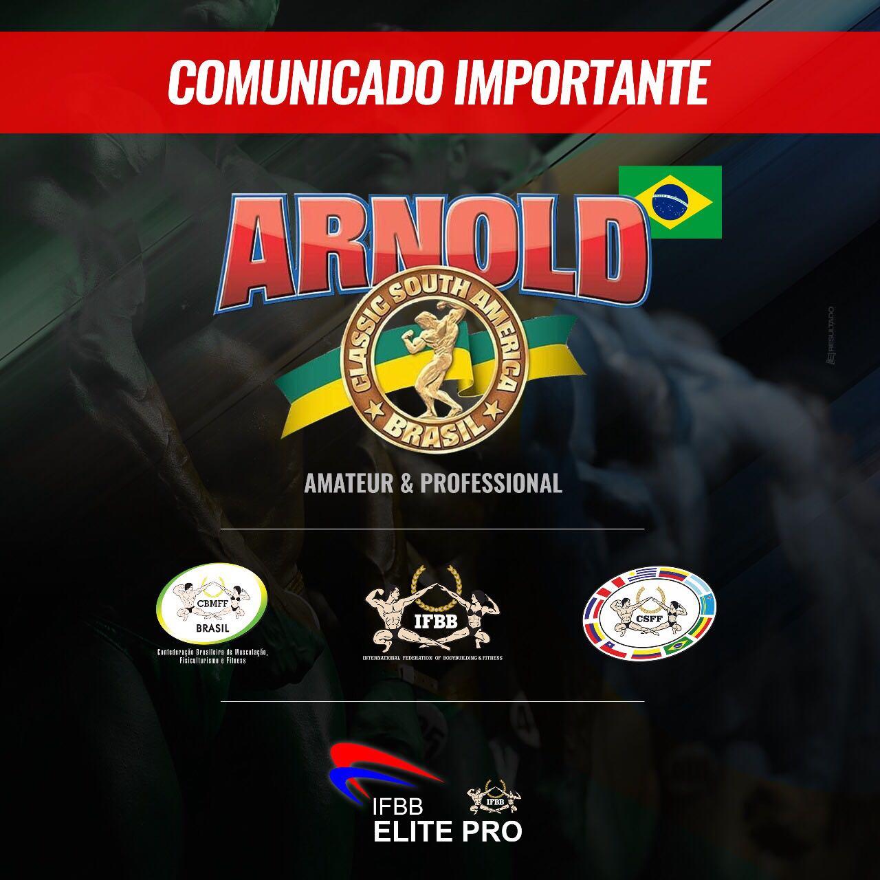 EL ARNOLD CLASSIC SUDAMERICA AMATEUR Y PROFESIONAL ES IFBB