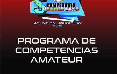 PROGRAMA DE COMPETENCIAS 44 CAMPEONATO SUDAMERICANO