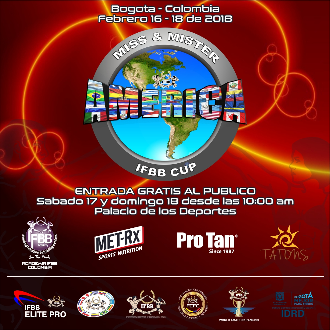 A 7 dias del Miss y Mister America IFBB Cup