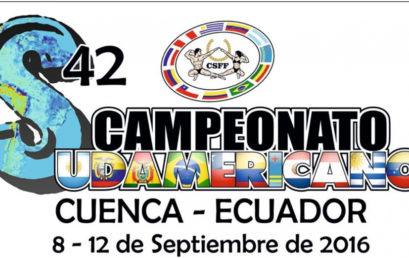 Invitación oficial al Campeonato Sudamericano 2016
